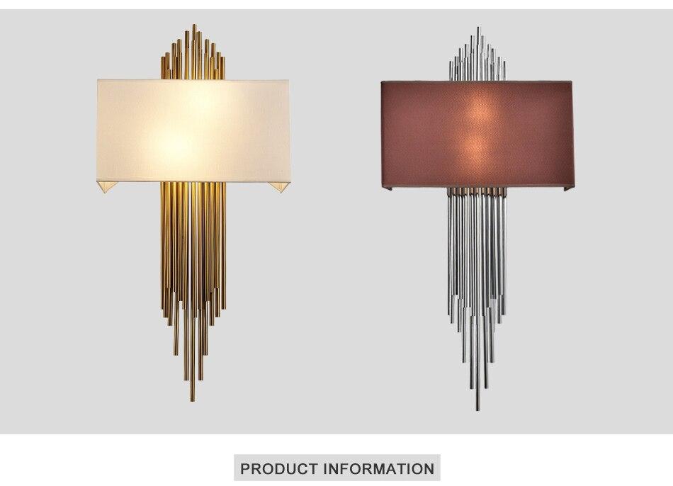 Acquista nuova lampada da parete moderna oro cromata led applique