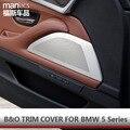 B & O HiFi Аудио Стиль Отделкой Из Нержавеющей Стали Двери Автомобиля Громкоговоритель крышку Наклейки Для BMW 5 Серии F10 F18 520li 525li 530li