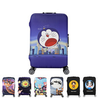 HMUNII Elastic Luggage Protective Cover For19 32 Inch Trolley Case Protect Dust Bag Cartoon Case For