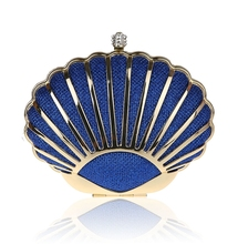 2016 Nuevo diseño azul banquete bolso de embrague partido nupcial bolso de noche las mujeres con la cadena del hombro cosmética bolso mujer bolso h0041