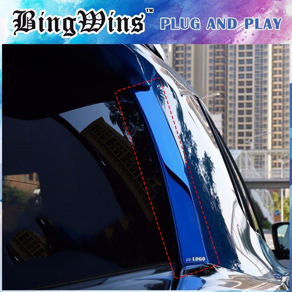 2PCS Car Styling Rear Window Side Wing Cover <font><b>Sticker</b></font> For Toyota RAV4 2014 2015 2016 <font><b>back</b></font> door Exterior Decoration Accessories