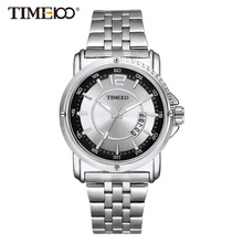 Top Quanlity Mens Business Quartz Watch Stainless Steel Strap Brand Watches New Original Men's Gift Watch W040