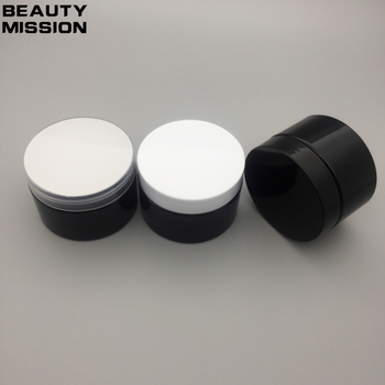 BEAUTY MISSION 30 x 120g Travel All Black Cosmetic Jar Pot Makeup Face Cream Container Bottle Cream Cosmetic Packaging