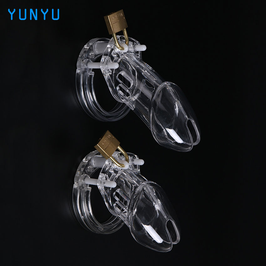1 Set Plastic Male Chastity Device With Size Penis Ring Cock Cages Ring Virginity Lock Belt Sex Toy for Men Penis Sleeve sex shop small male penis confinement chastity cage metal cock ring cockring chastity belt toy sex toys for men free shipping
