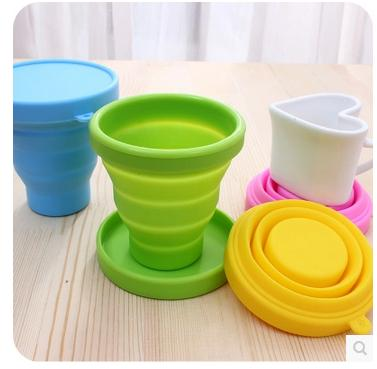 Candy color portable <font><b>travel</b></font> silicone <font><b>folding</b></font> <font><b>cups</b></font> <font><b>Outdoor</b></font> <font><b>sports</b></font> telescopic gargle <font><b>cups</b></font> 10pcs/lot free shipping mixture
