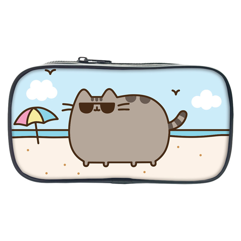 New Fashion Pusheen Cat Pencil Bags Pouch Wallet Case Cute Plush Bag Kids Gift 3D Printing Stationery School Supplies Escolar