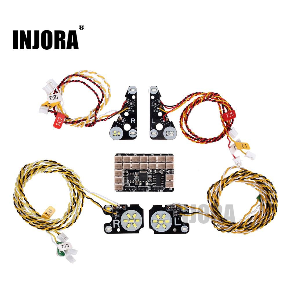 INJORA TRX4 RC Car Front Rear LED Lights Lamp Group for 1/10 RC Crawler Traxxas TRX-4