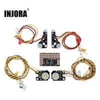 INJORA TRX4 RC Car Front Rear LED Lights Lamp Group for 1/10 RC Crawler Traxxas TRX-4 Defender