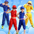 Boy Jazz Dance For Girls Jazz Dance Costumes for Girl Kids Hip Hop Set Long Sleeve Performance Sequins Jazz Costumes For Boys
