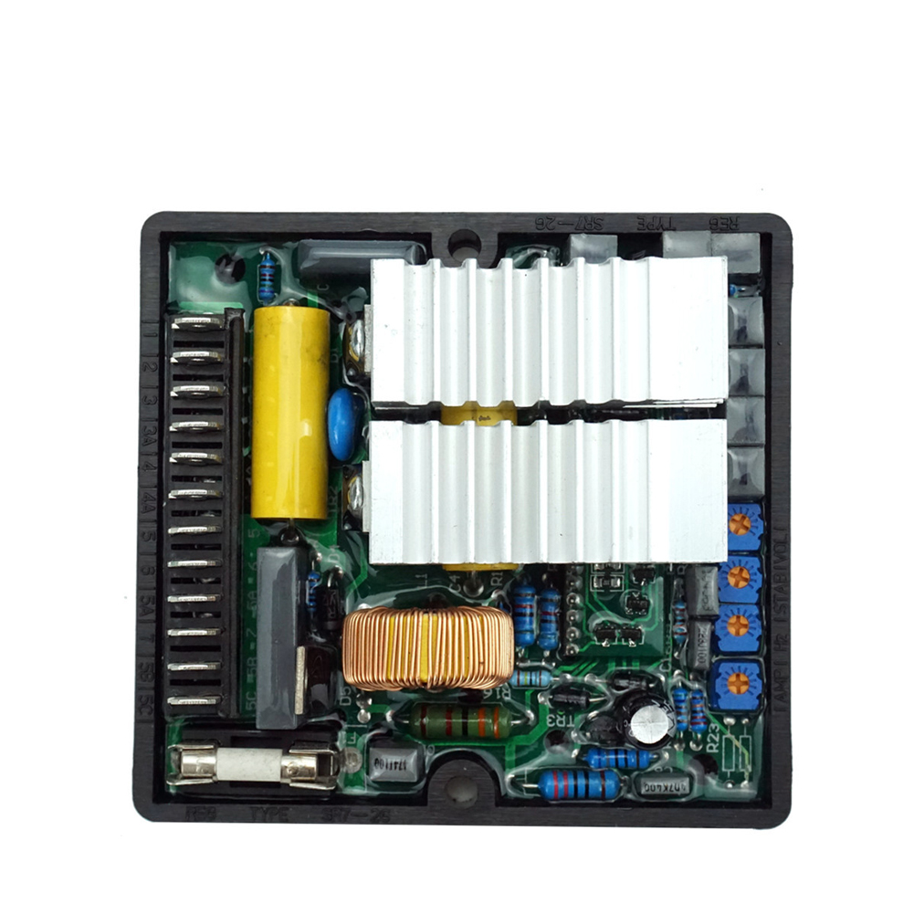 SR7 Durable Home With Connector Brushless Alternator Electronic Accessories Automatic Stabilizer Voltage Regulator Replacement