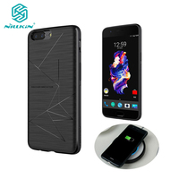 Genuine NILLKIN Magic Case For Oneplus 5 QI Wireless Charging Receiver Back Cover With Magnetic Holder