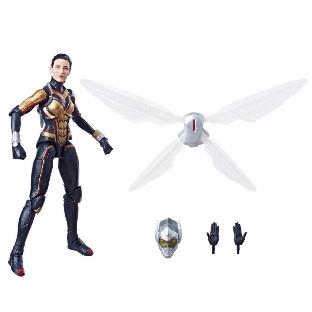 2018 Movie Marvel Legends 6 Wasp Lady Action Figure From Avengers Infinity War Cull Obsidian BAF Wave 2 Collectible Loose custom marvel legends 6 blade eric brooks action figure with 2 guns heads from netflix man thing baf wave collectible loose