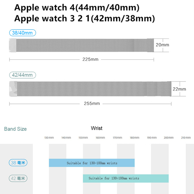 Milanese loop Strap for apple watch band correa apple watch 4 iwatch Band 42mm 38mm 44 mm 40 stainless steel Bracelet watchband 5
