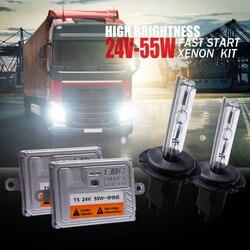 24 v Caminhão Farol hid xenon kit bixenon 55 w H4 H7 H1 H11 4300 k 5000 k 6000 k 8000 k Super Bright 24 v Van Boat Lamp bulb