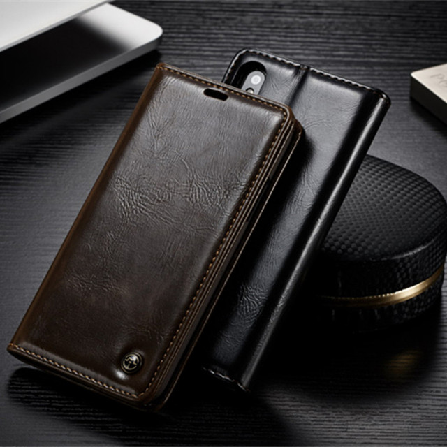 For iPhone XS Max Case iPhone XR CaseMe Flip Leather Phone Case For iPhone XS Max XR XS Magnetic Card Slot Wallet Back Cover