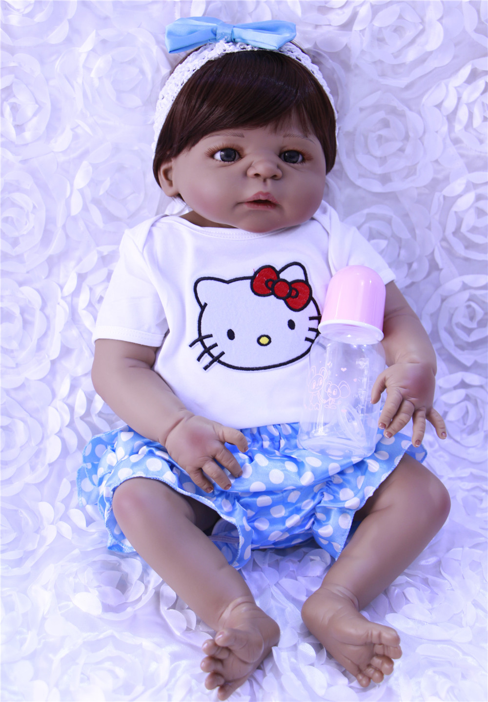 55cm NPK COLLECTION DOLL Silicone Reborn Baby Doll Toy Lifelike Real ...