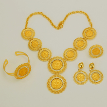 Ethiopian Coin Jewelry Set Necklace