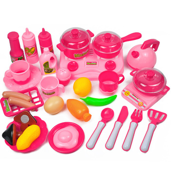 Kitchen Toy Set Utensils Cooking Induction cooker Pots Pans Food Dishes mini simulation Kids Cookware pretend play Toys 25pcs kids play house toy kitchen utensils pretend play cooking pots pans food dishes cookware accessory for baby girls boys