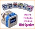 Горячая продажа 6 цвет Цифровой fm-радио Micro SD/TF USB Disk mp3 радио ЖК-Дисплей Интернет-Радио с диктором