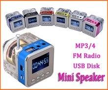 Venta caliente 6 color Digital fm radio Micro SD/TF DEL Disco DEL USB mp3 de radio Pantalla LCD de Radio Por Internet con altavoz