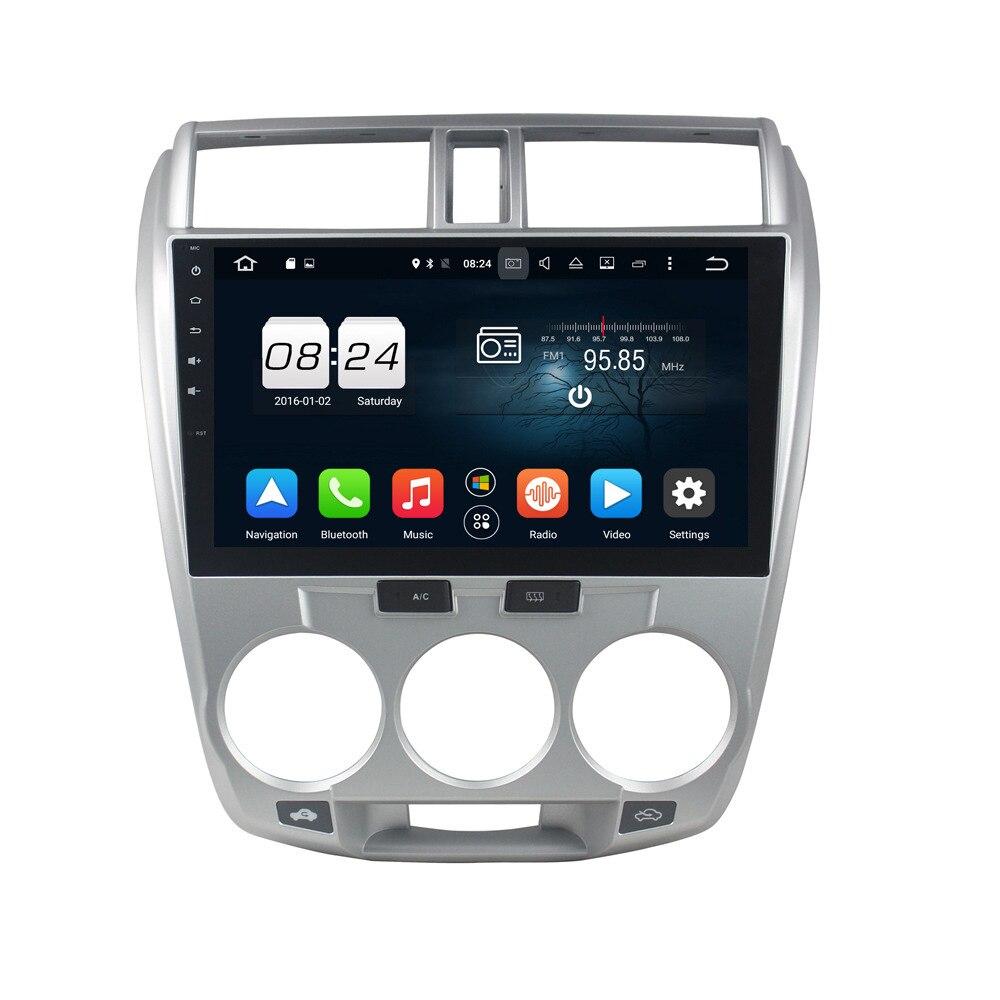 Android 6,0 dvd-плеер автомобиля Мультимедиа Автомагнитолы для Honda CITY 2006-2013 в тире 2 Din 1024*600 автомобильный Dvd gps навигации тире gps
