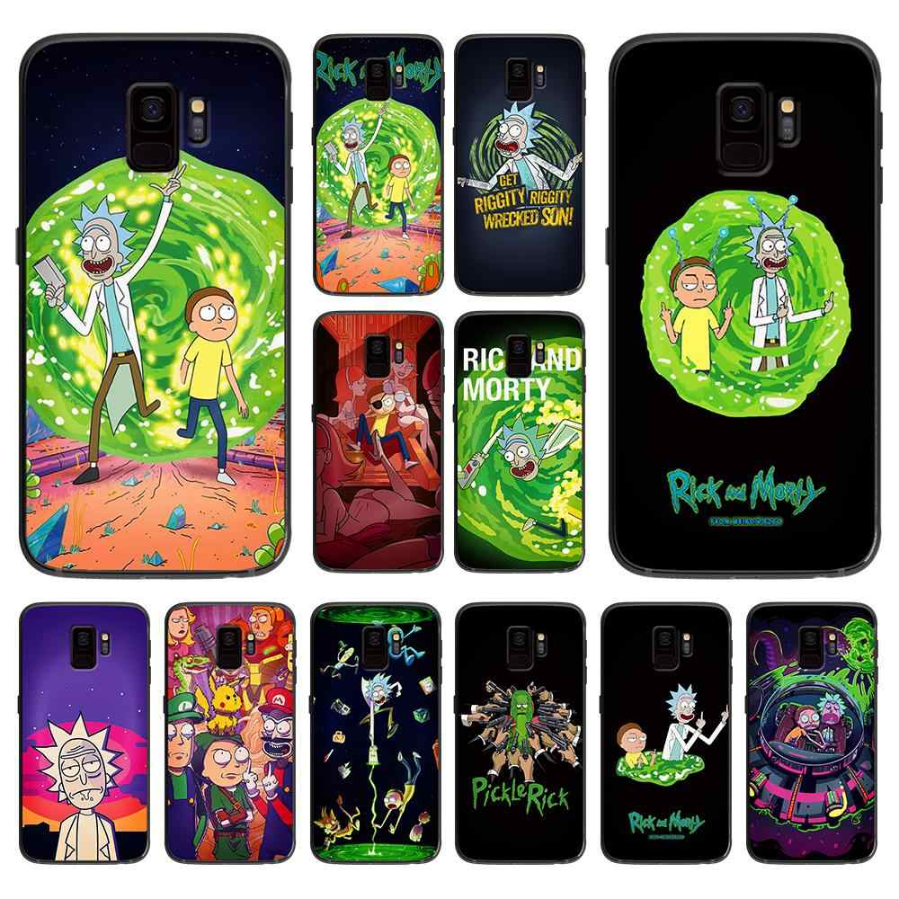 Rick และ morty สำหรับ Samsung Galaxy A5 A6 A7 A8 A9 2018 2019 Plus M10 M20 M30 Soft case