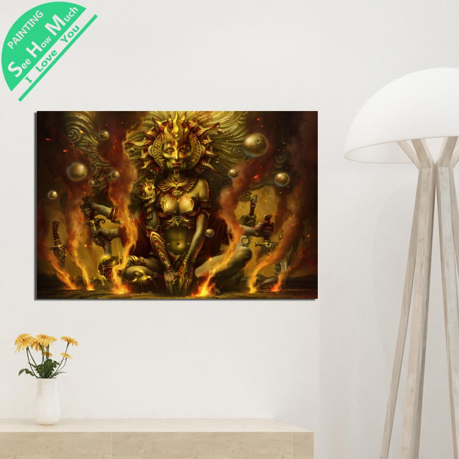 1 Piece Fantasy Egyptian God HD Printed Canvas Wall Art Posters and Prints Poster Painting Framed Artwork Room Decoration