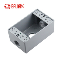 118mm us Socket Switch Box, aluminum cast iron mounted box US standard wall switch bottom box
