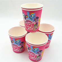 10pcs My Little Pony Cup Cartoon Theme Party For Children/Girls Happy Birthday Decoration Theme Party Supplies Festival