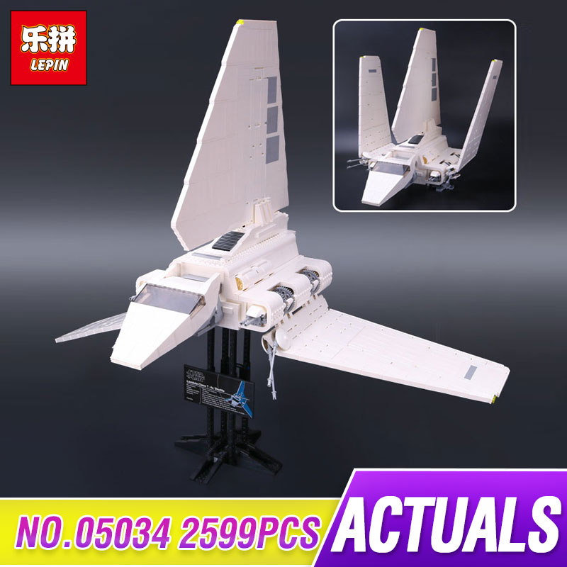 LEPIN 05034 2503Pcs Star Series Wars Kit Star Shuttle Model Building Blocks Bricks Compatible Children Toy Gift With 10212 new lepin 05034 2503pcs imperial shuttle model building kit blocks bricks compatible children toy gift with 10212