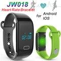 Banda de Freqüência Cardíaca Pulseira Smartband JW018 Bluetooth inteligente Sports Pulseira Pedômetro Monitor de Sono Call Reminder Relógio de Pulso TW64