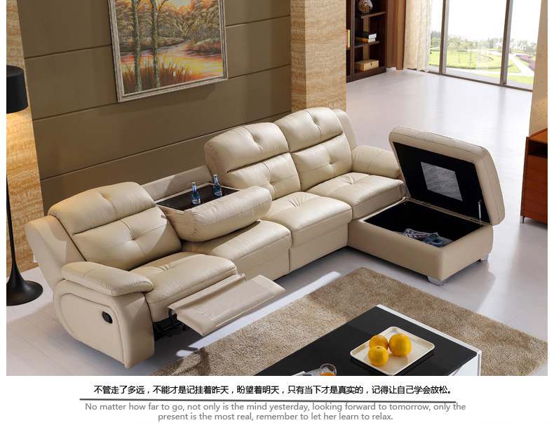 Living Room Sofa set L corner sofa recliner electric couch genuine leather sectional sofas L muebles de sala moveis para casa