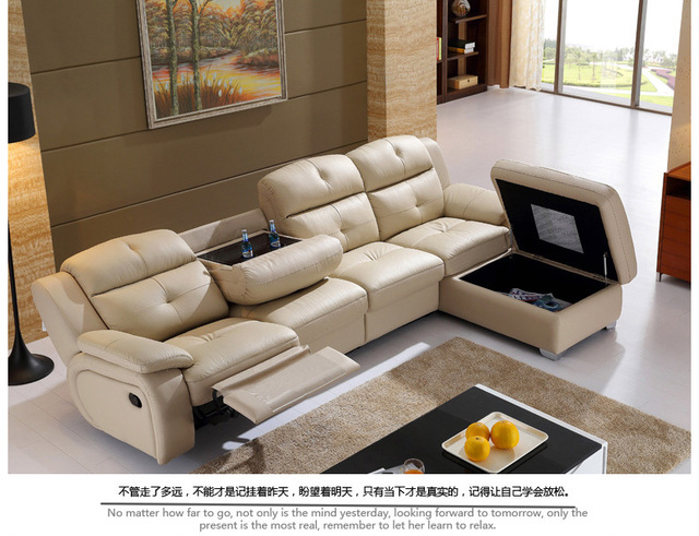 Living Room Sofa Set L Corner Recliner Electric Couch Genuine Leather Sectional Sofas Muebles
