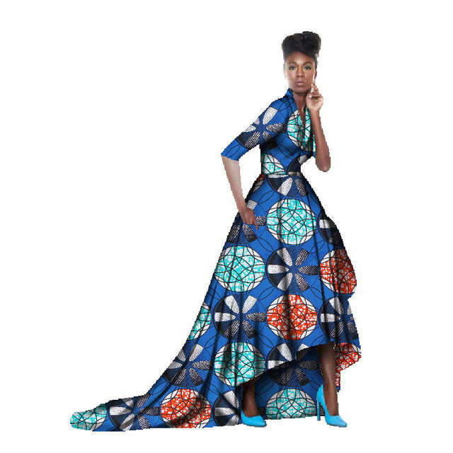 5179838c7 Online Shop African Dresses For Women Batik Half Sleeve Elegant Ball Gown  Floor Length Fashion Pleated African Print Dresses | Aliexpress Mobile