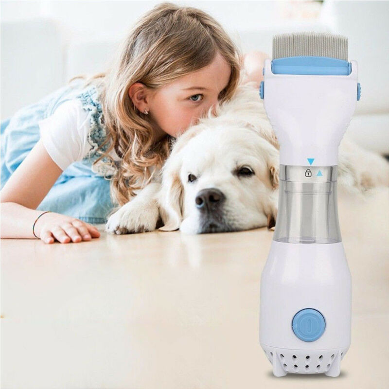 Pet Electric Brush Head Vacuum Lice Comb Capture Filter Lice Shining Fashion Comfortable Treatment Solution