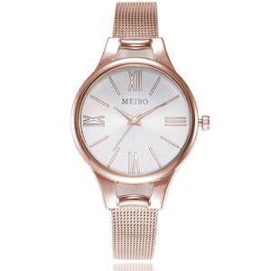 Woman Watch Gold Waterproof Brand Steel-Strap Quartz Lady Date Casual
