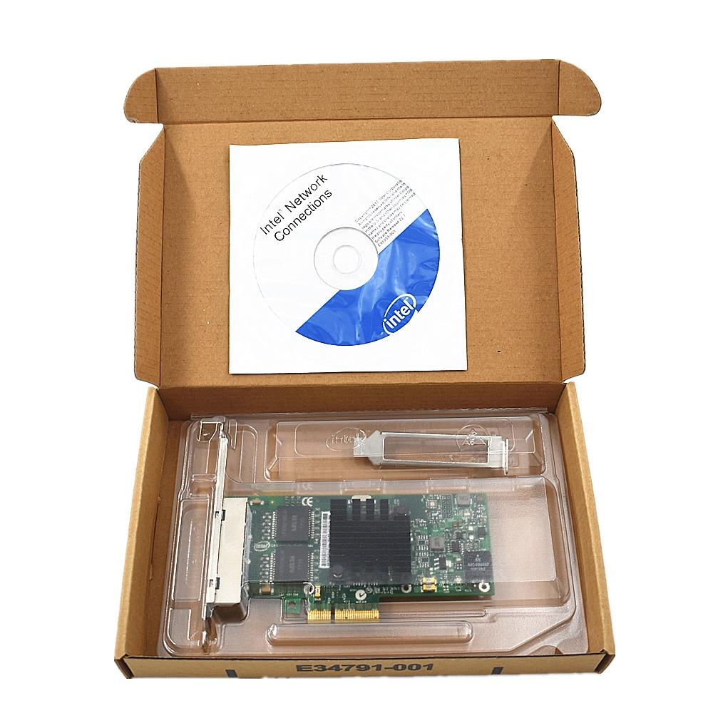 NEW Intel I350-T4 PCI-Express PCI-E Four RJ45 Gigabit Ports Server Adapter NIC wyi350t4 rj45 pci e gigabit ethernet network adapter card nic inteli350 t4 i340 t4