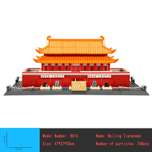 Great architectures 5 models London Bridge Big Ben Tiananmen Building Block Sets Educational DIY Bricks Toys 8013 8016 8020