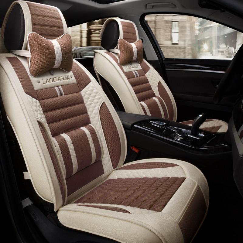 Car Seat Cover Cushion Flax Car Styling For Volkswagen Beetle CC Eos Golf Jetta Passat Tiguan Touareg sharan
