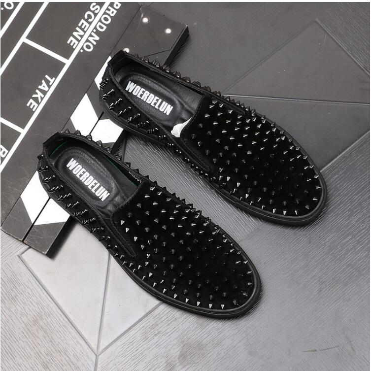 New Men Rivet Shoes Loafers Casual Shoes Walking Lightweight Comfortable Breathable Fashion Male Shoes Sneakers Men's Loafers