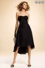 free shipping dinner dress 2013 New fashion Party Gown brides maid formales short royal black beaded Bridesmaid Dresses