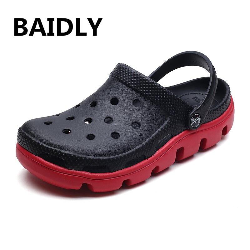 Clogs Herren Sandalen Outdoor Sommer Männer Sandalen Hohe Qualität Liebhaber Strand Sandalen Wasser Herren Schuhe Große Größen 35-47