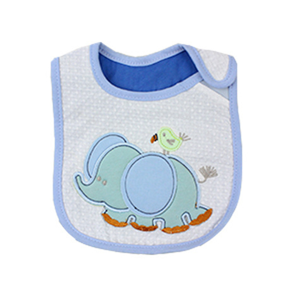 Animals Baby Bibs Cute Cartoon Pattern Toddler Baby Waterproof Saliva Towel Cotton Fit 0-3 Years Old Infant Burp Cloths Feeding Boys' Baby Clothing Accessories