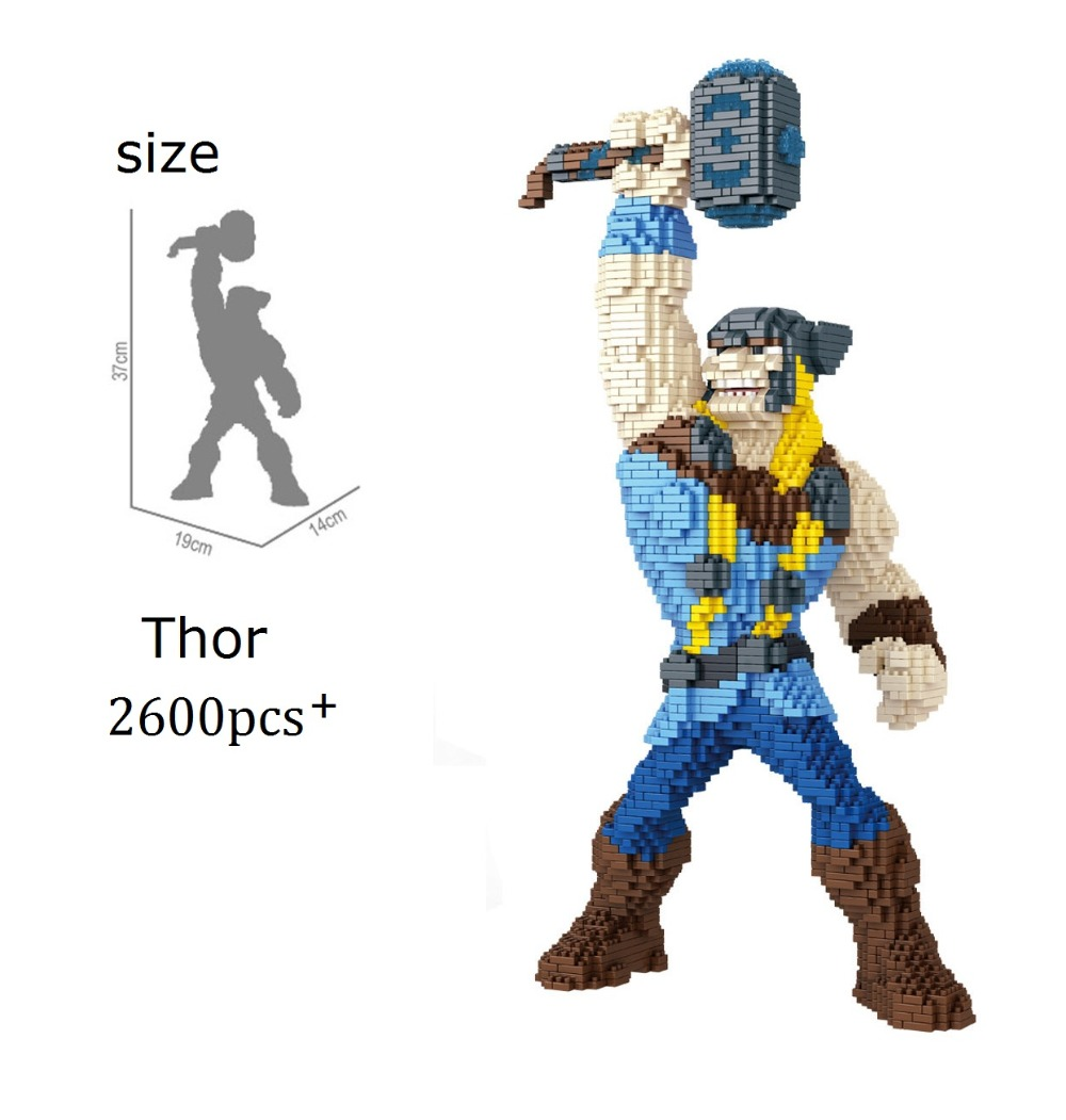 PZX Small Blocks Ironman Cartoon Power Super Hero Building Toy Anime Auction Figures Thor Micro Bricks Brinquedos for Boy Gifts loz diamond blocks assembly display case plastic large display box table for figures nano pixels micro blocks bricks toy 9940