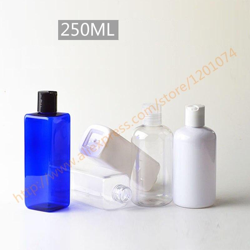 250ml pretty colors PET bottle with plastic disc lid essential oil liquid moisturizer facial water container