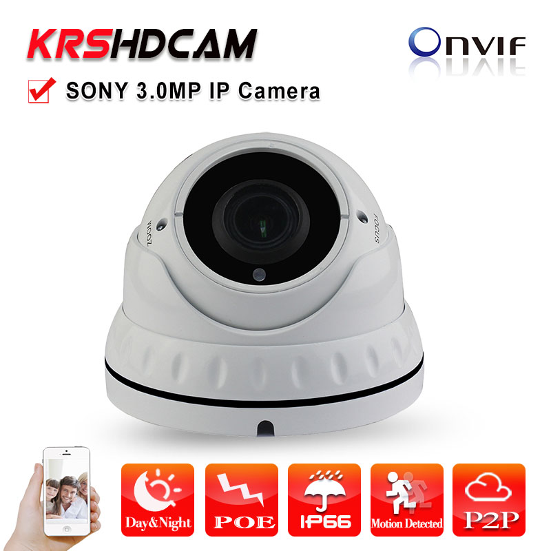 IP Camera POE 3.0MP Full HD 1080P Onvif 2.4 Vandalproof P2P Varifocal indoor Security CCTV Cameras 2.8-12mm zoom Night Vision full hd ip camera 5mp with sound dome camera ip cam cctv home security cameras with audio indoor cameras onvif p2p