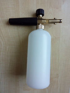 Image 4 - 100% copper car washer snow bubble foam gun fit STIHL high pressure washer gun foam generator foaming lance sprayer