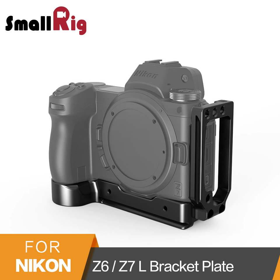 SmallRig L-Bracket Plate for Nikon Z6 / Z7 Camera Arca-Swiss Standard L Plate Mounting Side Plate And Baseplate -2258