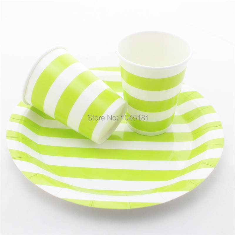 ipalmay Free Shipping Disposable Party Tableware Striped Design Paper Plates Cups Straws Napkins Bags Wooden Fork Spoon Knife-in Disposable Party Tableware ...  sc 1 st  AliExpress.com & ipalmay Free Shipping Disposable Party Tableware Striped Design ...
