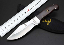 100%NEW BROWNING A37 Hunting Fixed Knives,5Cr13Mov Blade Ebony Handle Sanding Camping Knife,Survival Knife